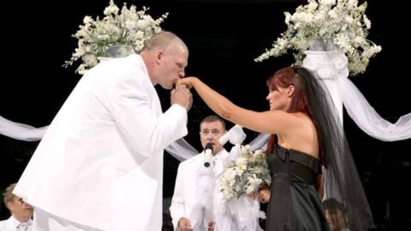 List Of Top On Air Marriages In Wwe Newsbytes By then, kane had found a solid footing in sports entertainment. list of top on air marriages in wwe