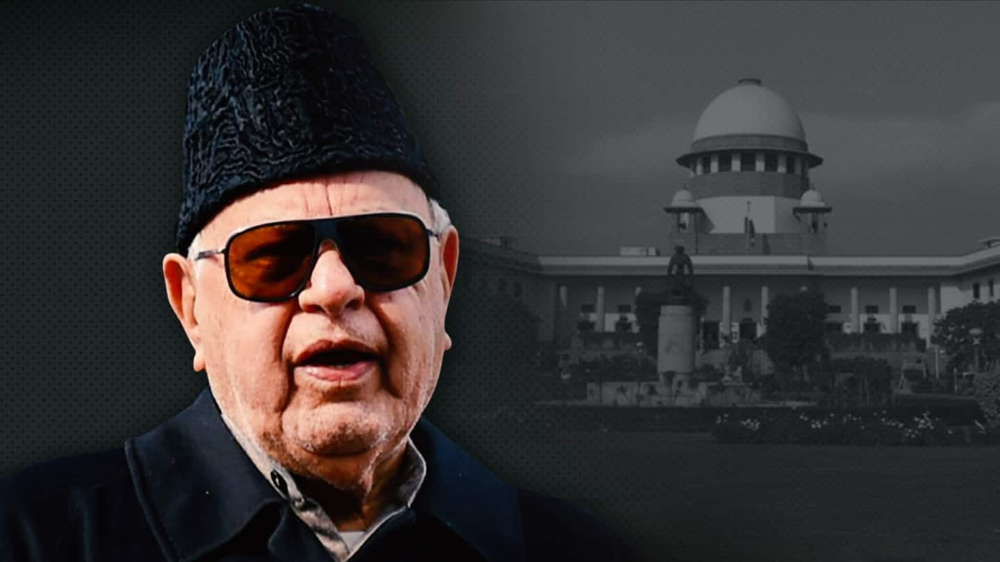 Disagreeing with government not sedition: SC on plea against Abdullah
