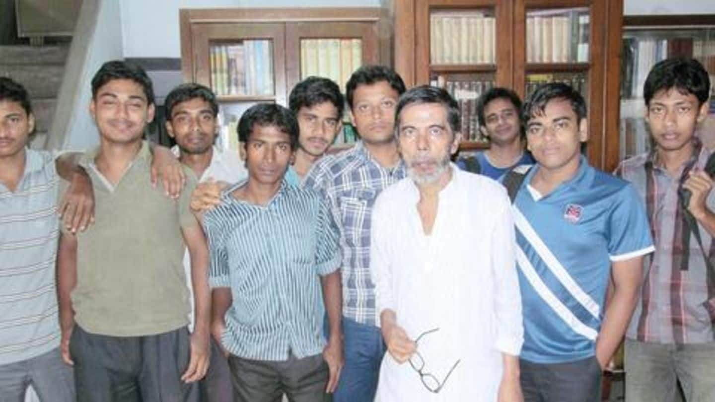 He was once a Naxalite, now teaches students for free