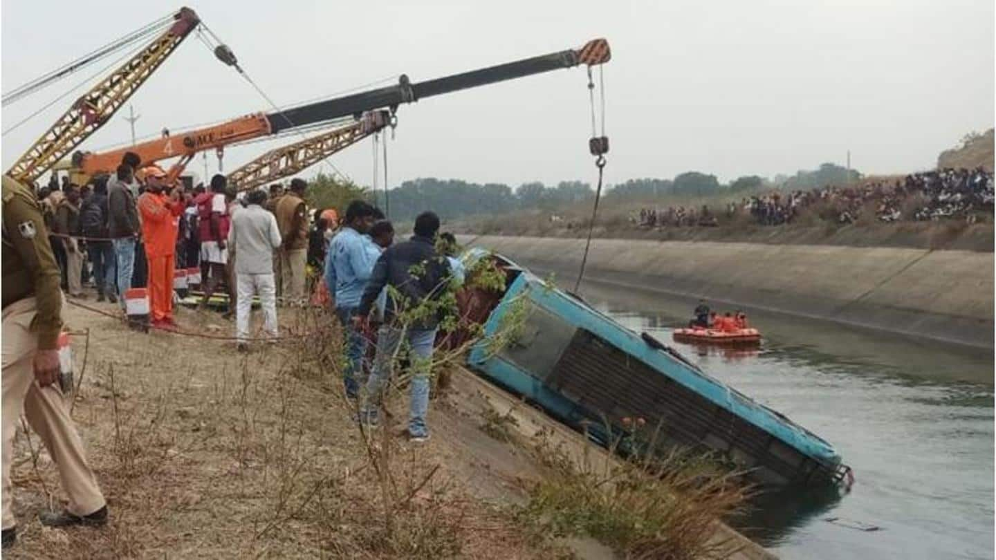 MP: Bus falls into canal; 32 dead, more feared drowned