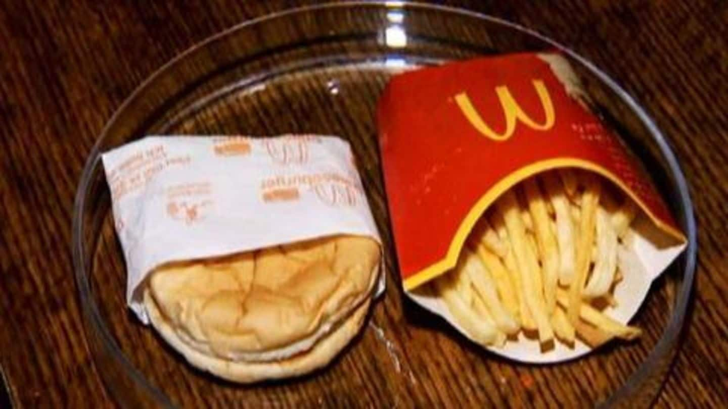This 10-year-old McDonald's meal still looks edible on livestream