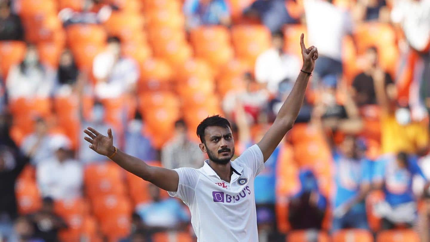 Axar gets a 10-wicket haul in this Test