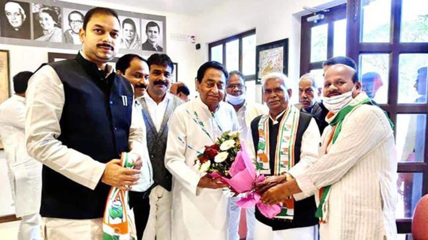 Ahead of MP civic polls, Congress inducts 'Godse follower'