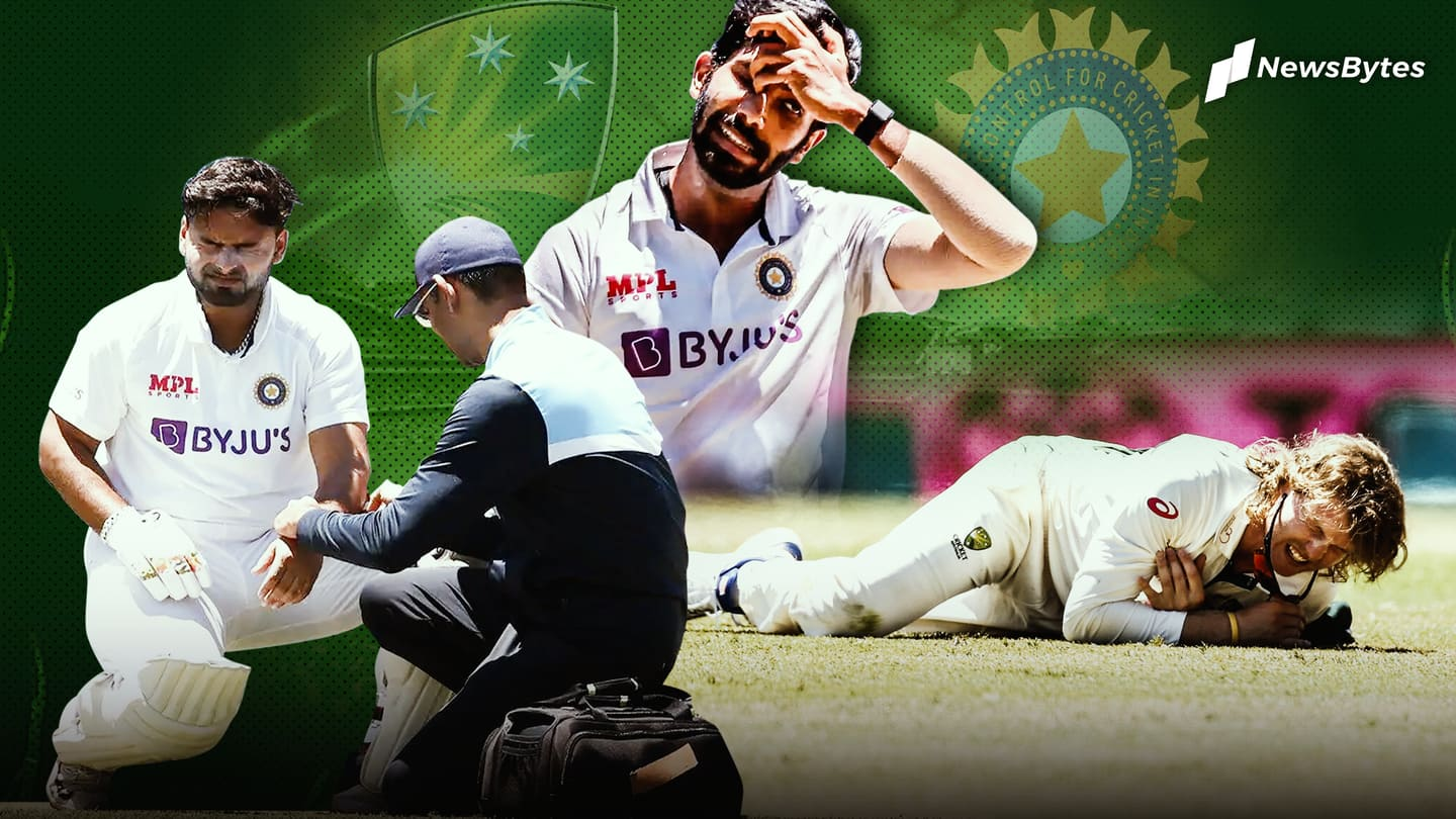 Australia vs India, Test series: List of injured players