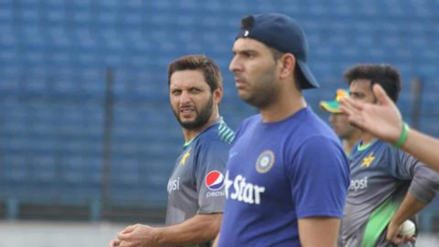 Yuvraj and Afridi discuss possibility of Indo-Pak rivalry