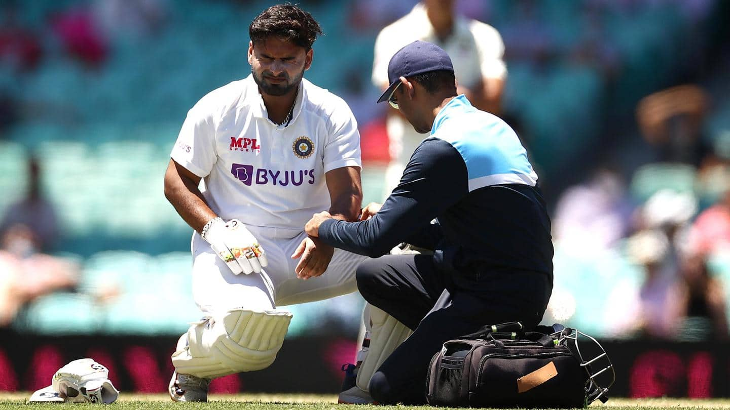 #SCGTest: Pant survives injury scare, could bat on Day 5