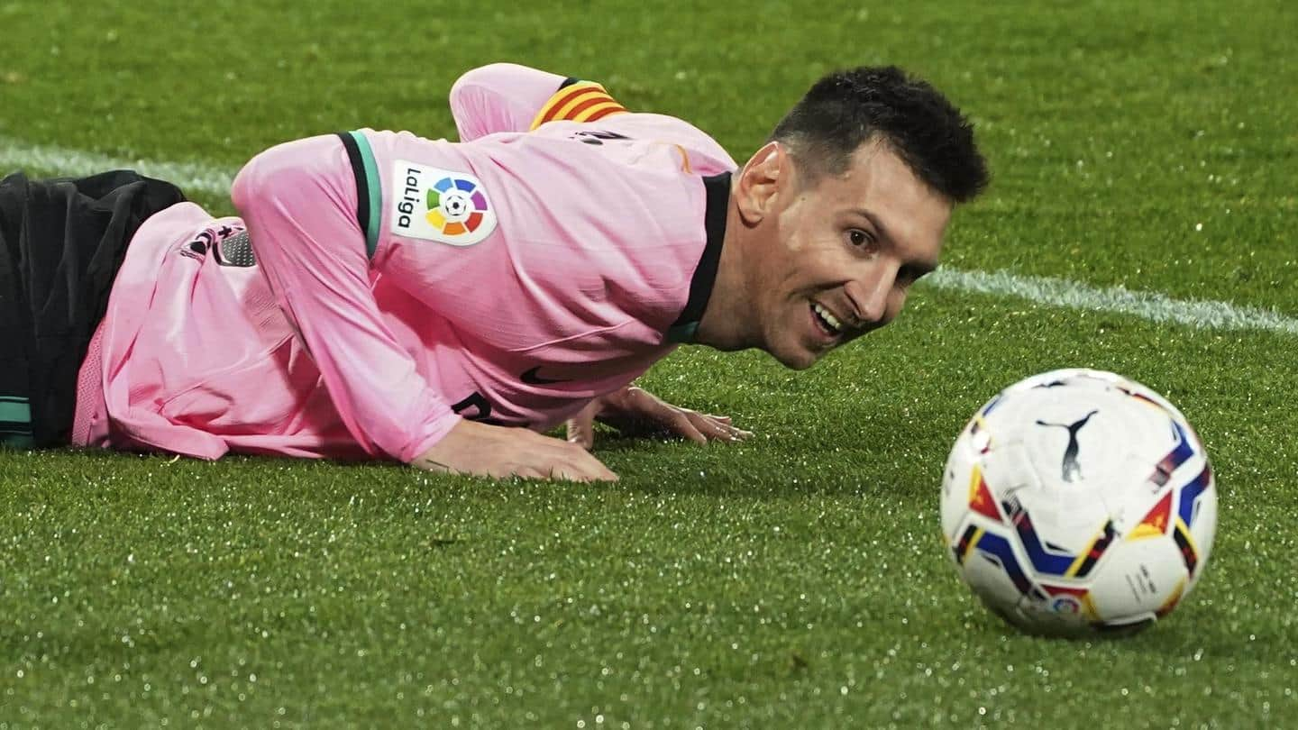 Messi scores 644th goal for Barcelona, breaks Pele's all-time record