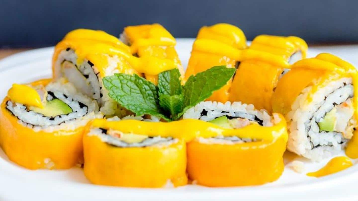 How to make delicious mango sushi at home