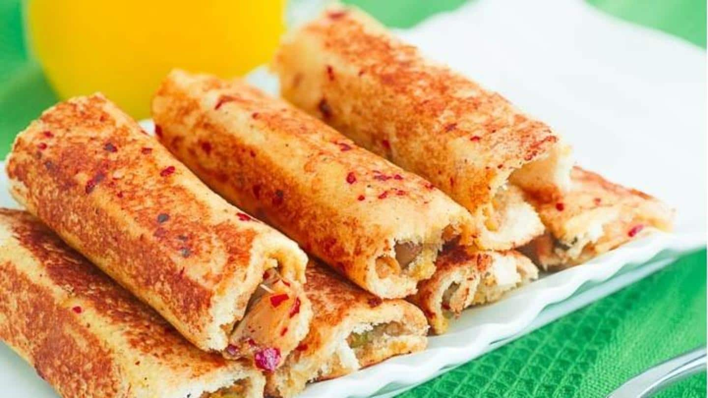 Snack time: How to make crispy paneer bread rolls