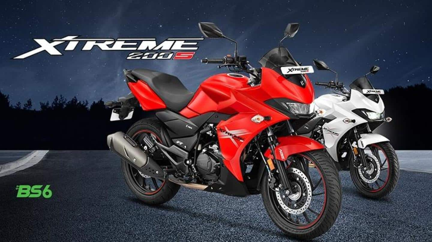 BS6 Hero Xtreme 200S motorbike launched at Rs. 1.16 lakh