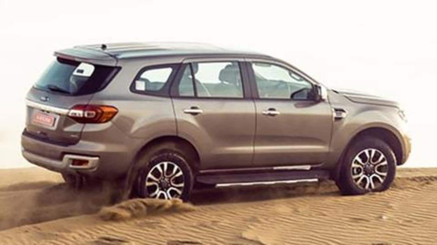 Ford Endeavour becomes costlier by up to Rs. 1.20 lakh