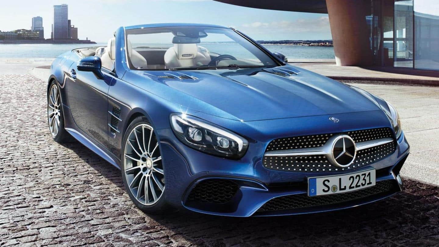 2022 Mercedes-Benz SL roadster found testing with a fabric roof