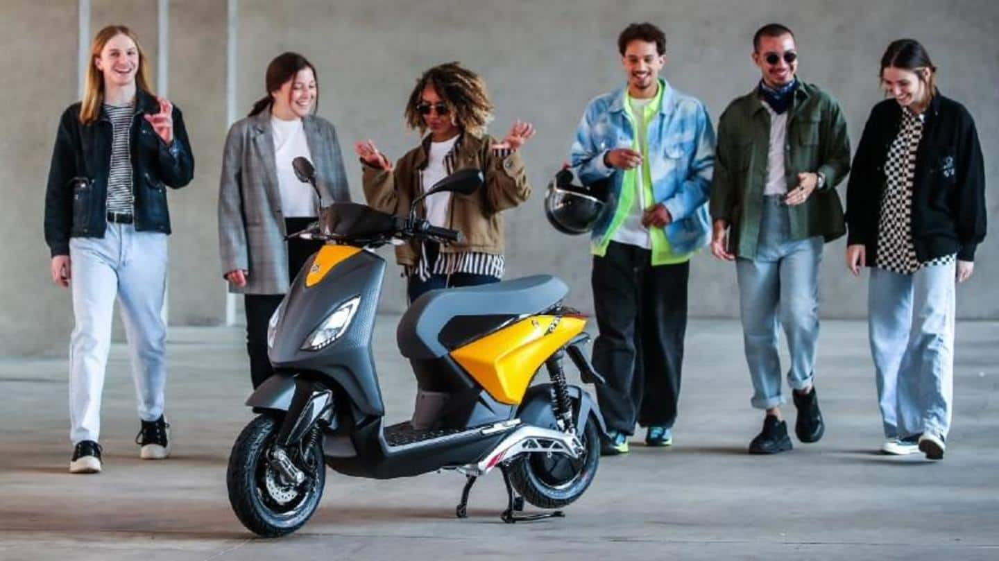 Piaggio ONE electric scooter to be available in three variants