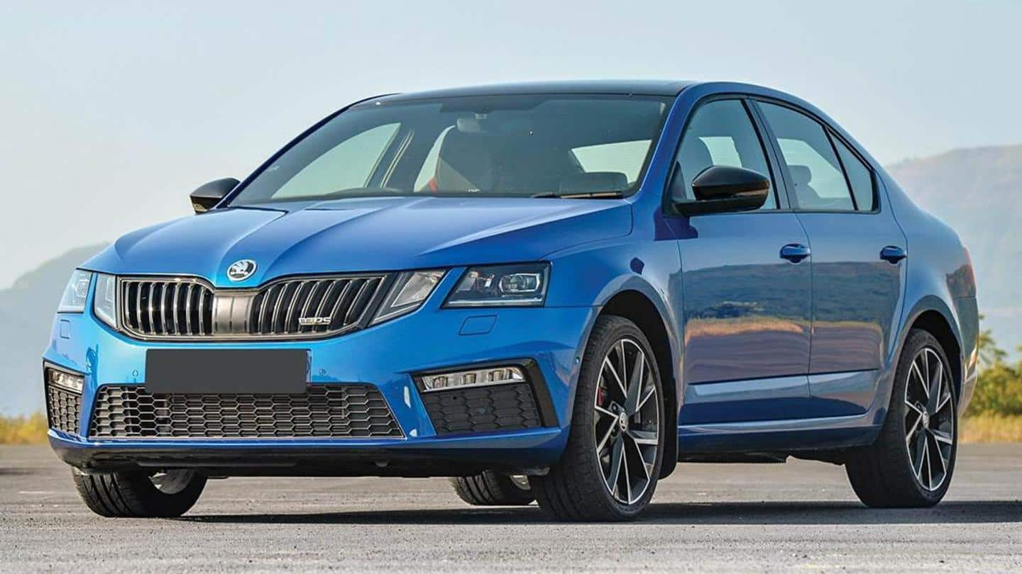 SKODA OCTAVIA RS 245 available with Rs. 8 lakh discount