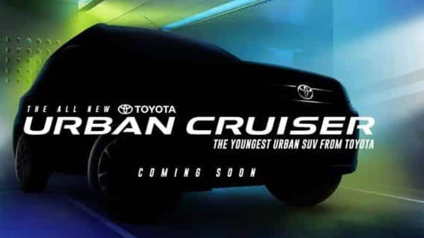 Toyota Urban Cruiser's bookings to commence on August 22