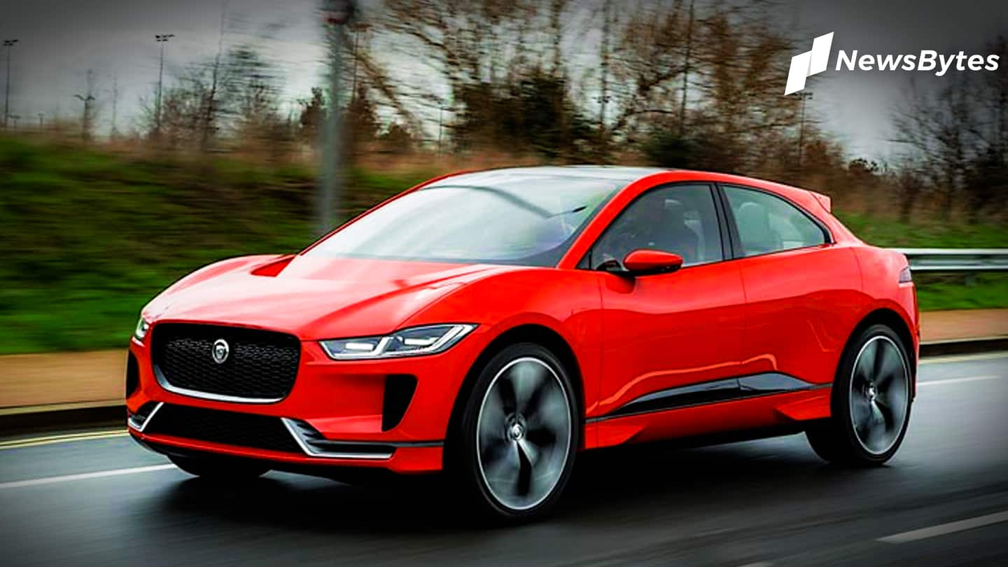 Jaguar's first electric car arrives in India for testing