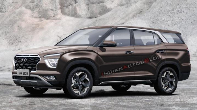 Ahead of launch next year, Hyundai Creta 7-seater spotted testing