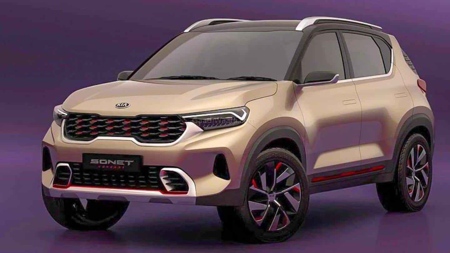 Ahead of launch, images of production-ready Kia Sonet SUV leaked