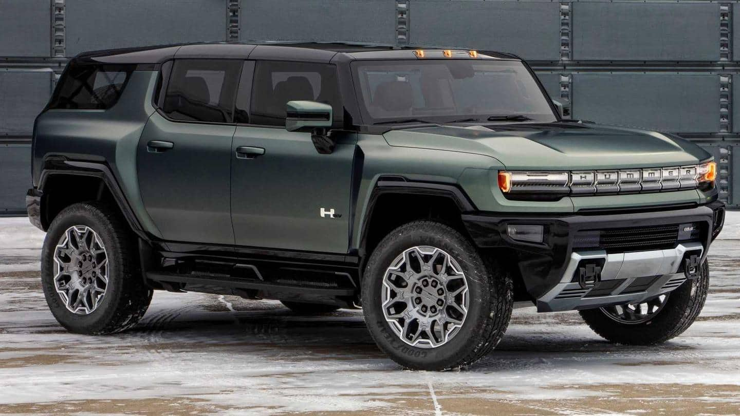 2024 GMC Hummer EV SUV with a 480km range revealed