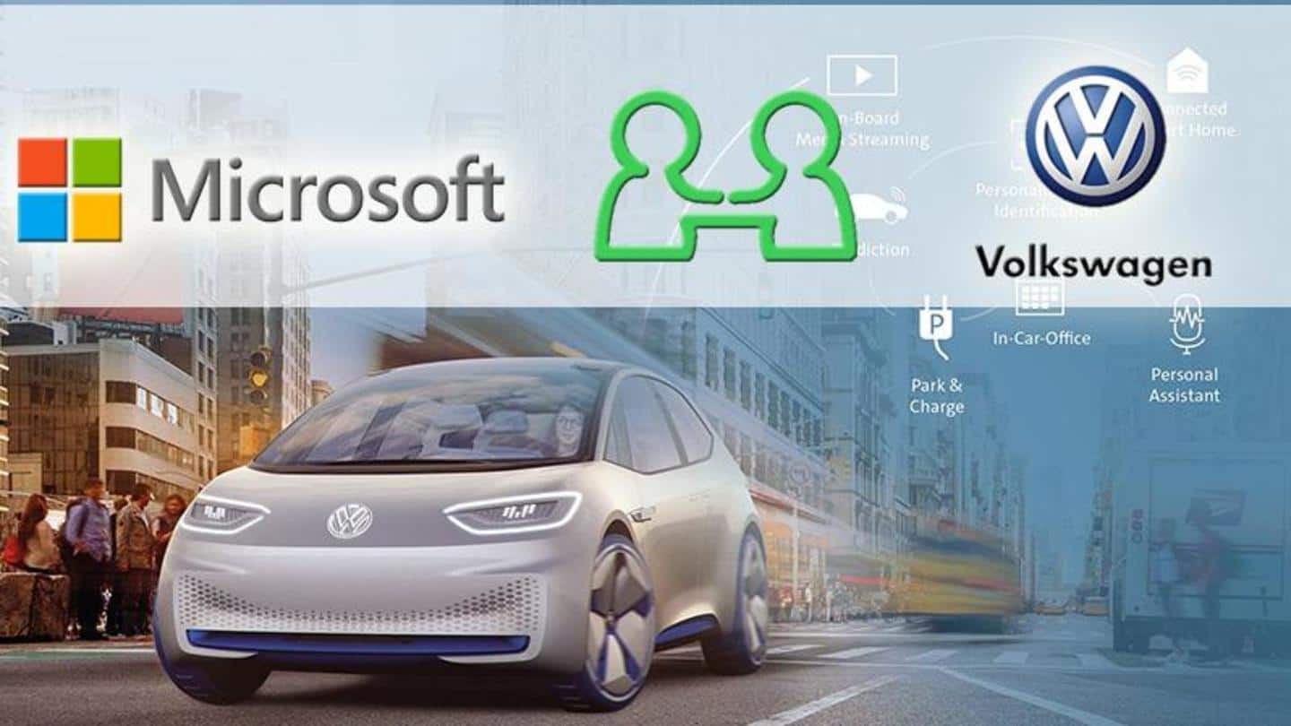 Volkswagen partners with Microsoft to develop autonomous driving technology
