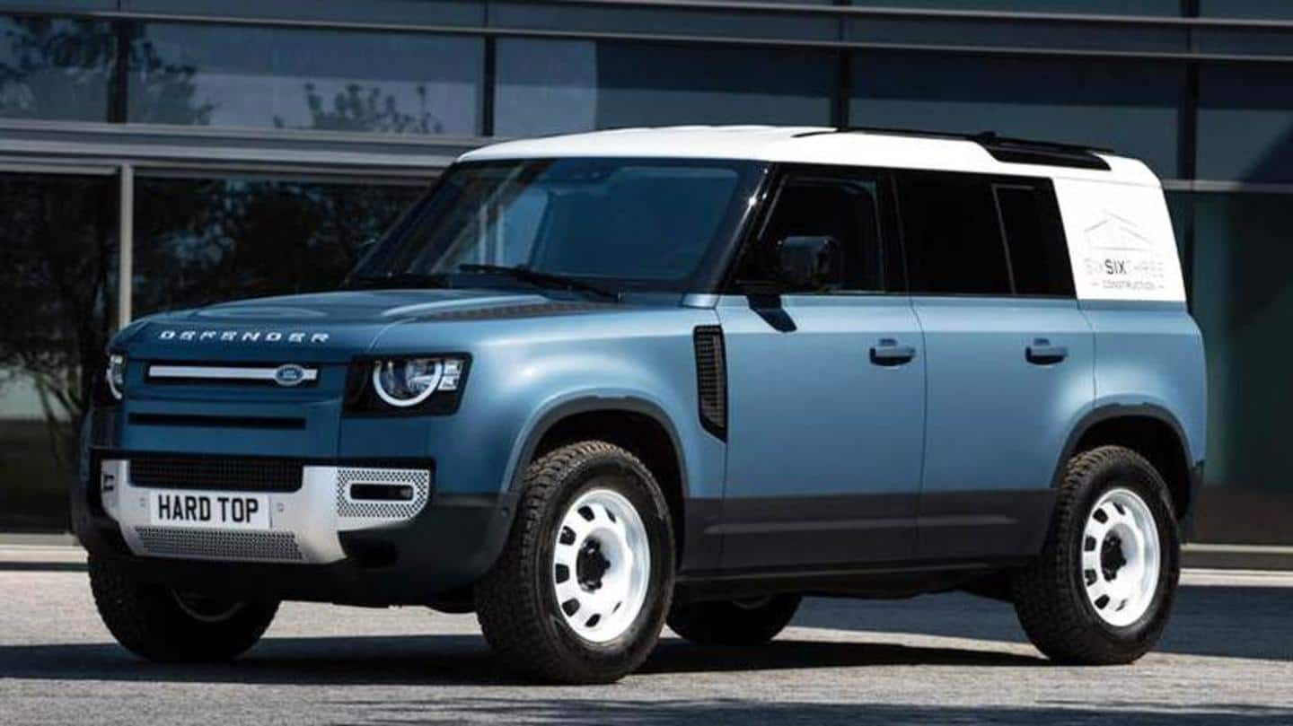 Land Rover's Defender commercial model unveiled with 'Hard Top' moniker