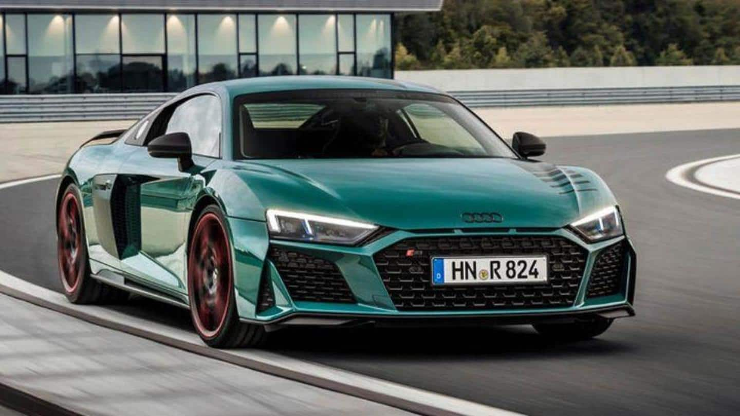 Audi Unveils Limited Edition R8 Green Hell Supercar Details Here Newsbytes