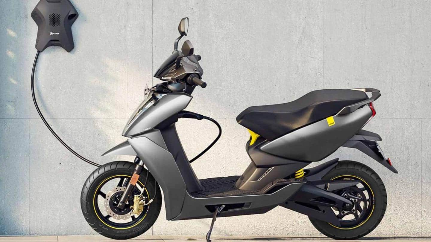 Ather 450X to get tire pressure monitoring system in October