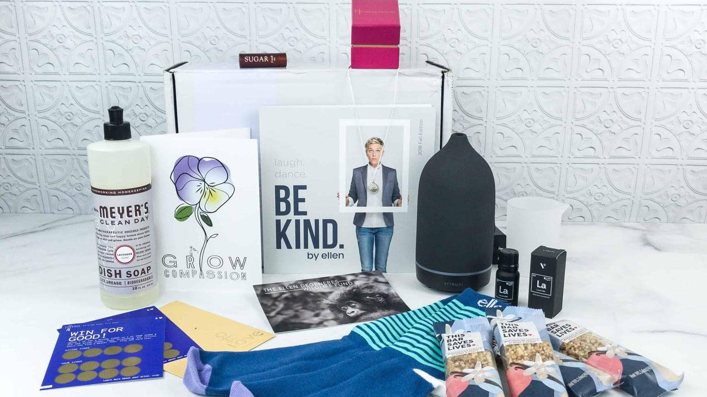 Ellen DeGeneres wants fans to self-pamper with 'Be Kind' box