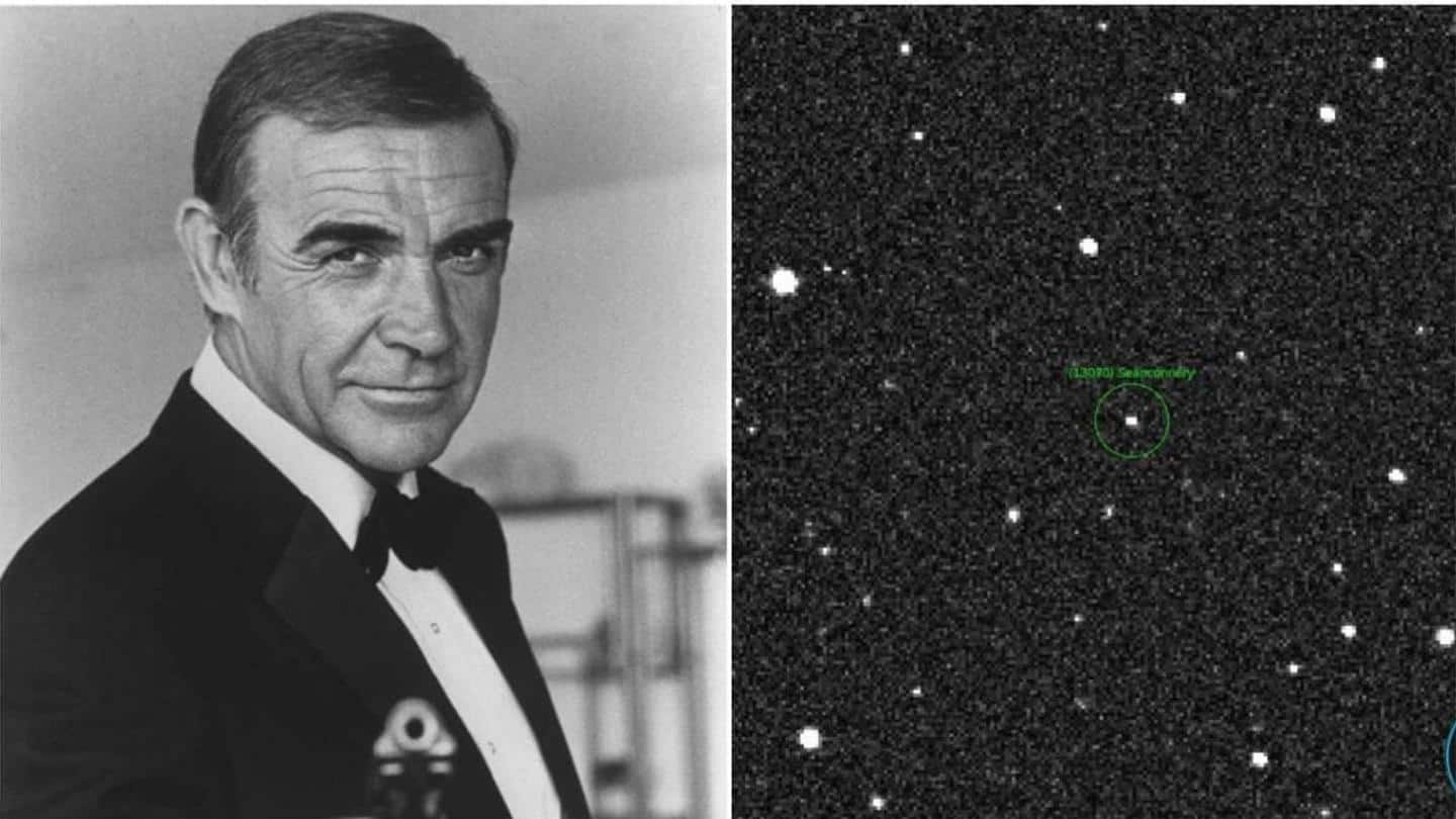 NASA names asteroid after 'James Bond' star Sir Sean Connery