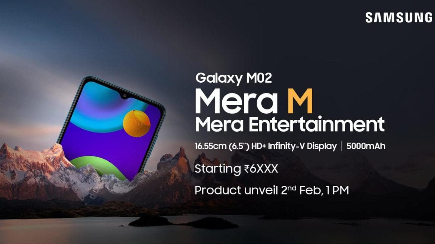 Samsung Galaxy M02 to be launched on February 2