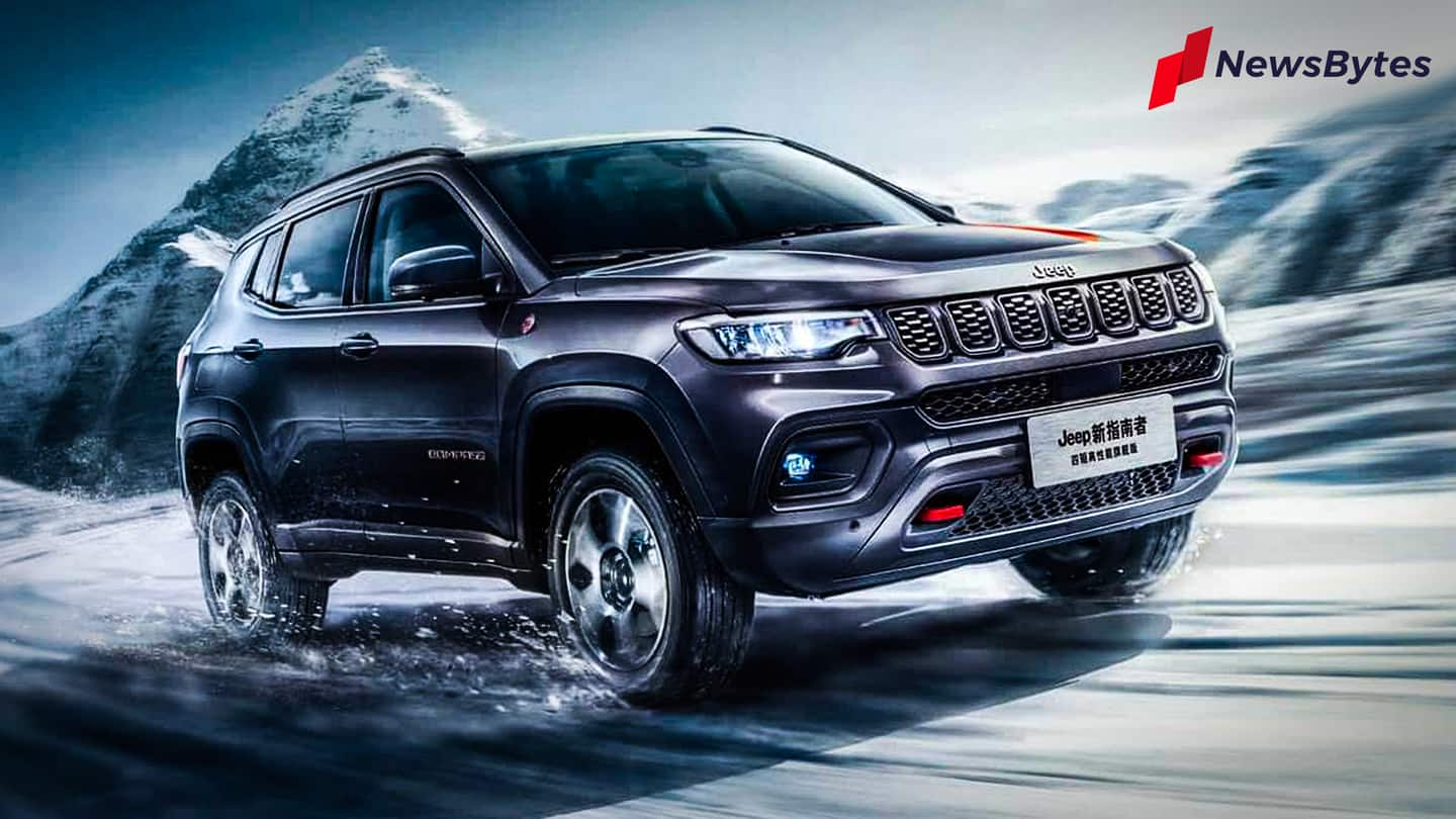 Ahead of launch, 2021 Jeep Compass spotted testing in India