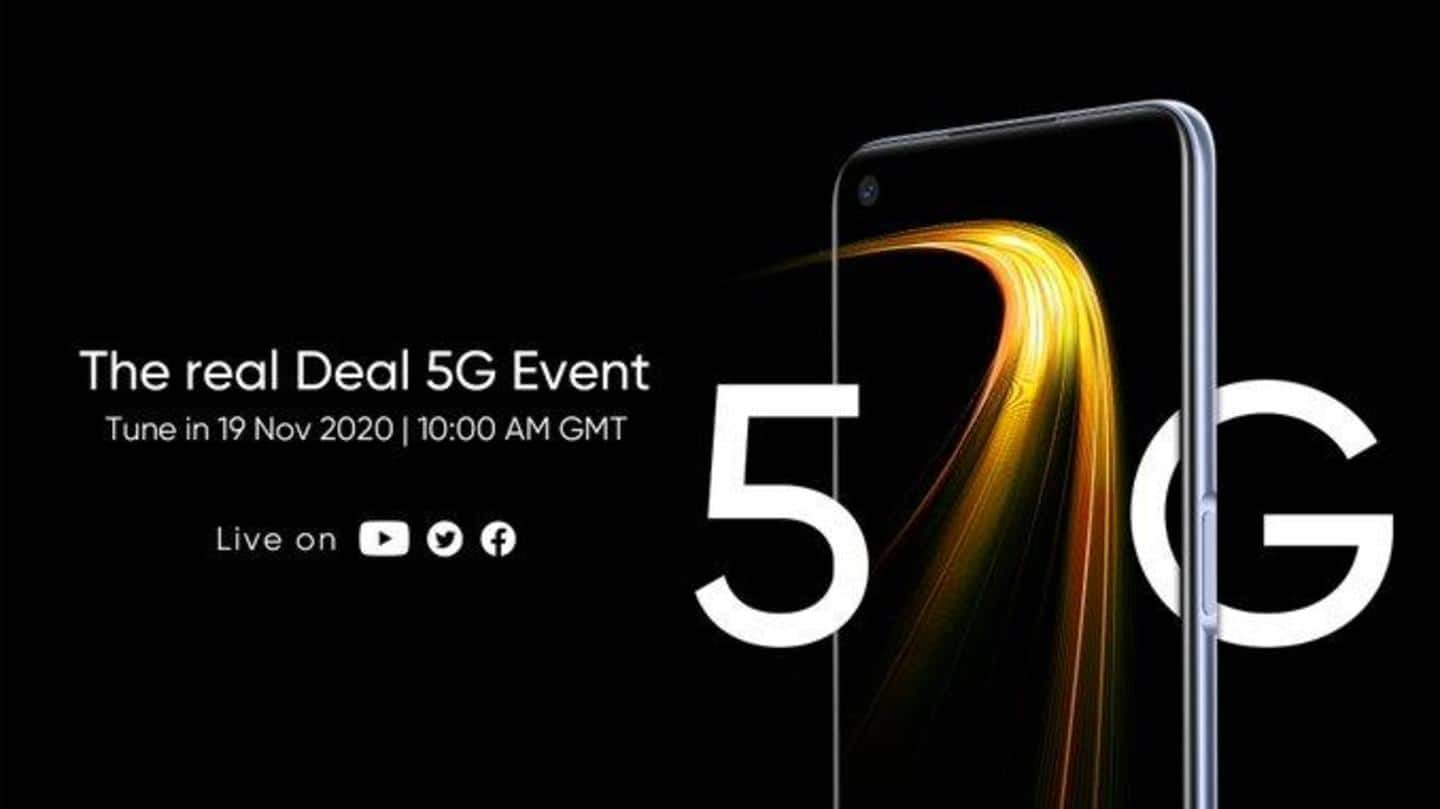 Realme 7 5G to be launched on November 19