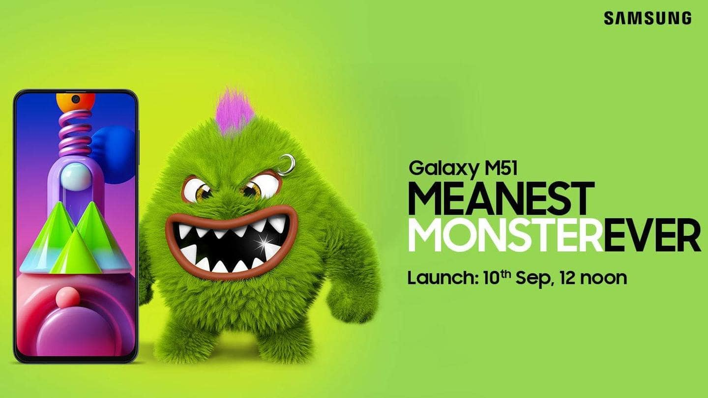 Samsung Galaxy M51 will be launched on September 10