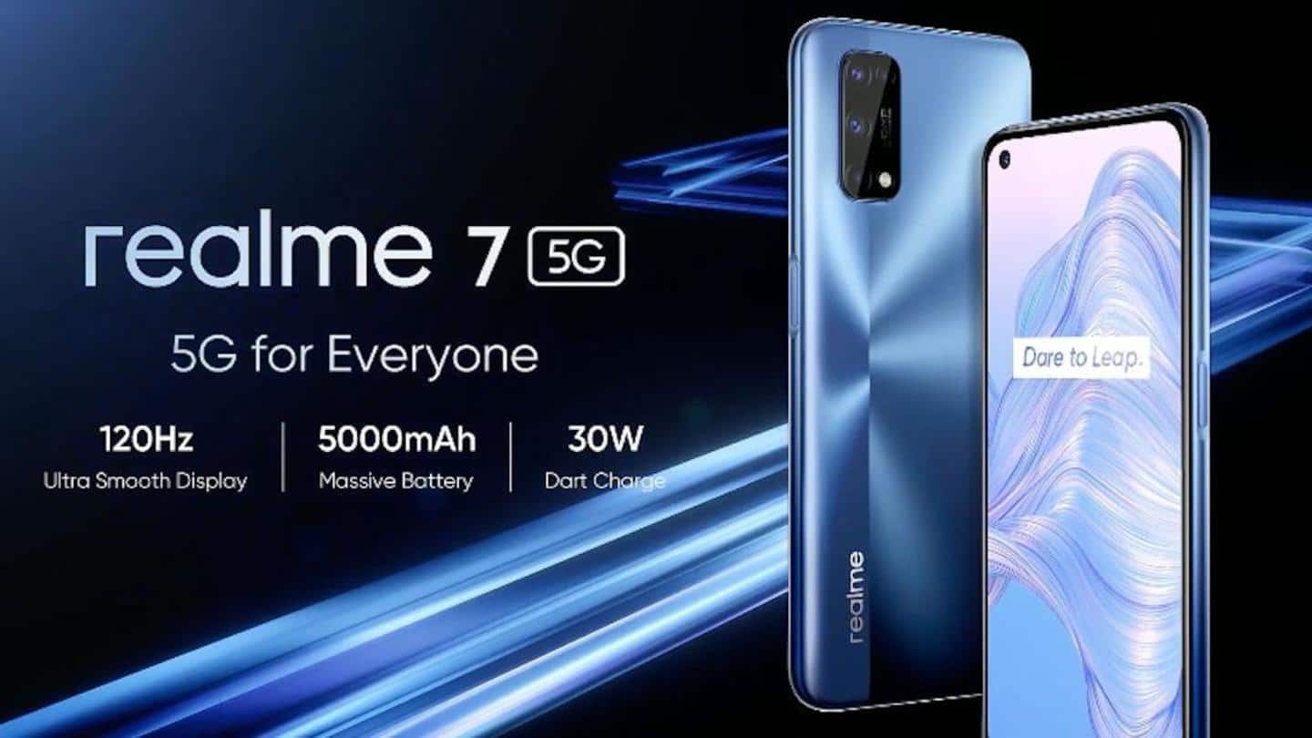 Realme 7 5G, with MediaTek Dimensity 800U chipset, launched
