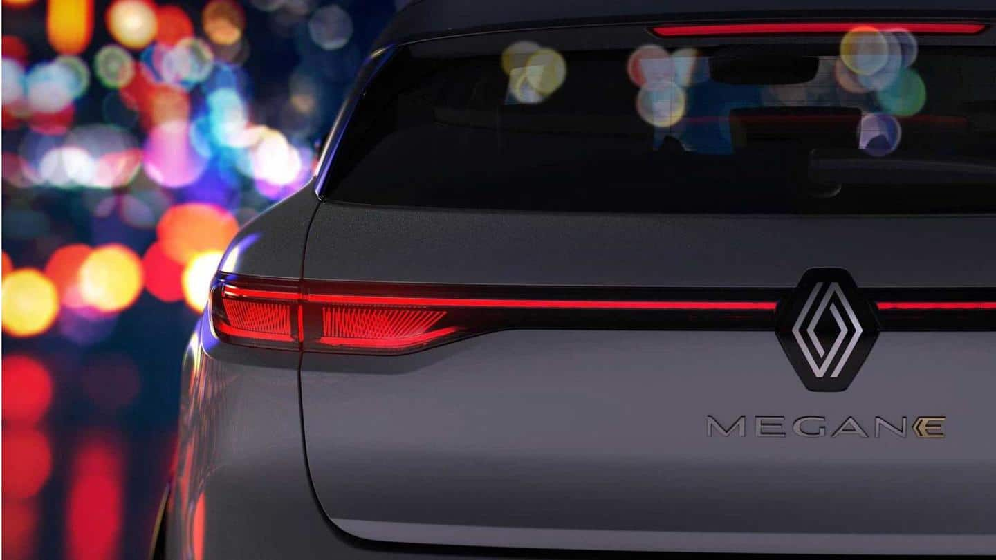 Renault teases Megane E-TECH Electric SUV with the new logo