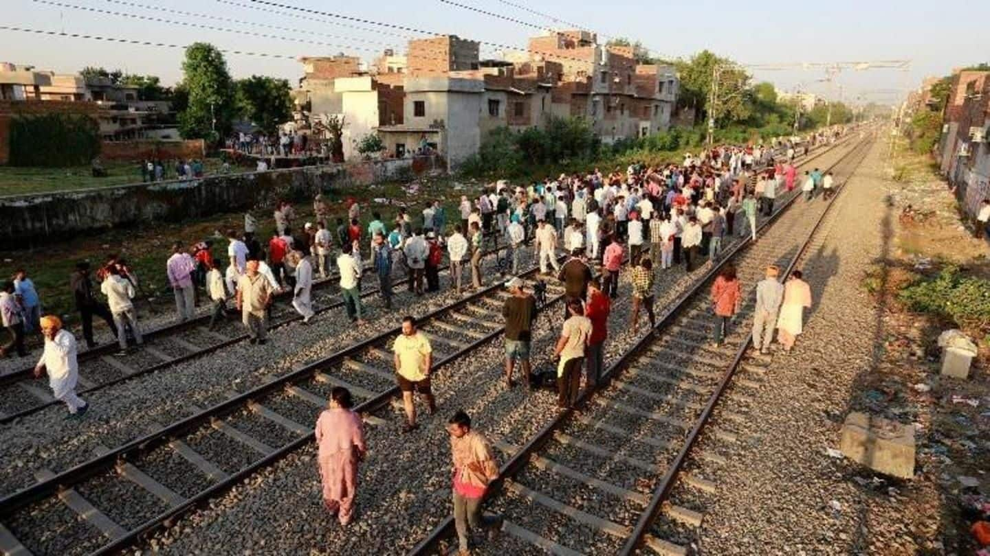 #AmritsarTrainTragedy: Protesters removed from track, train services resume after 40hrs