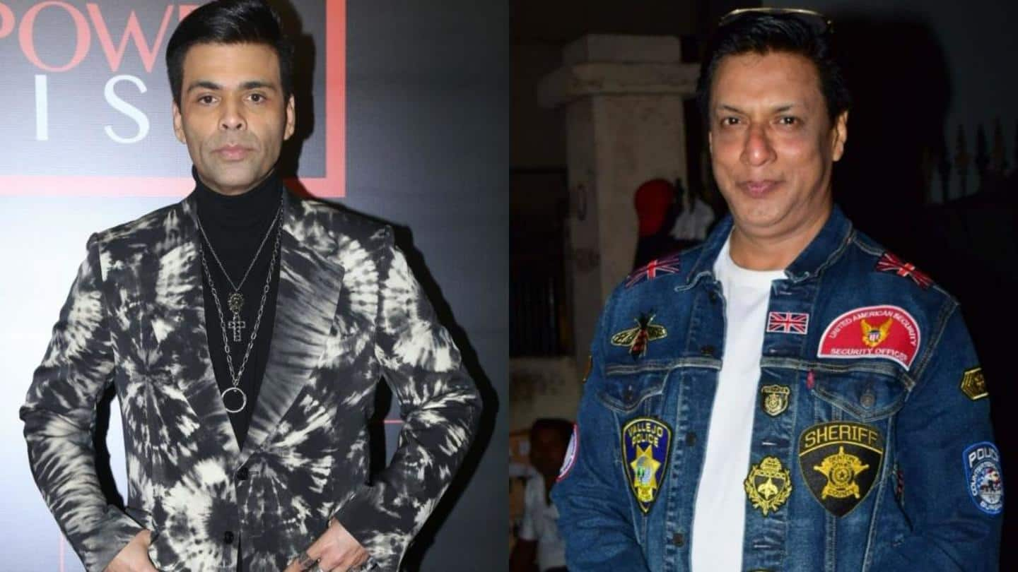 Madhur Bhandarkar slams Karan Johar for using his project's title