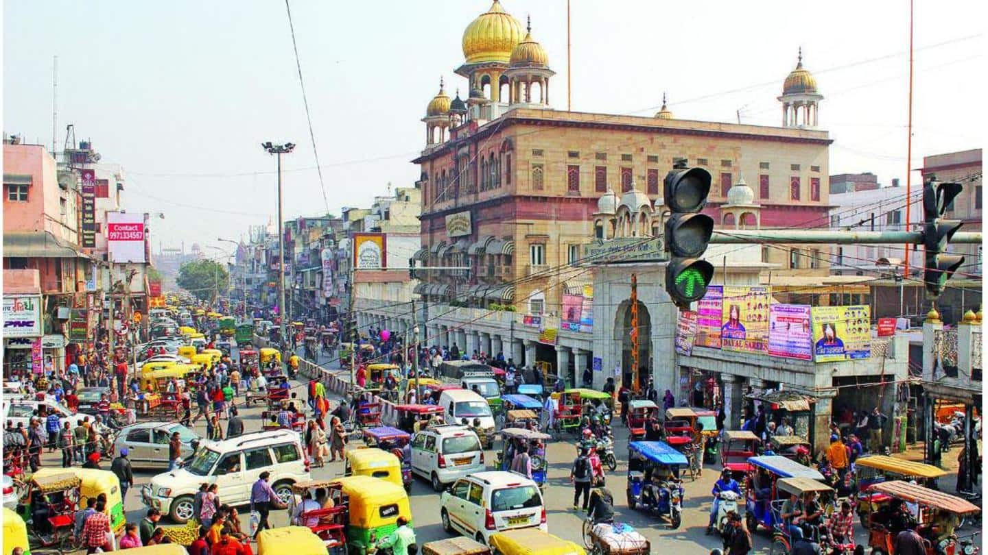 Post temple demolition, makeshift structure erected in Chandni Chowk