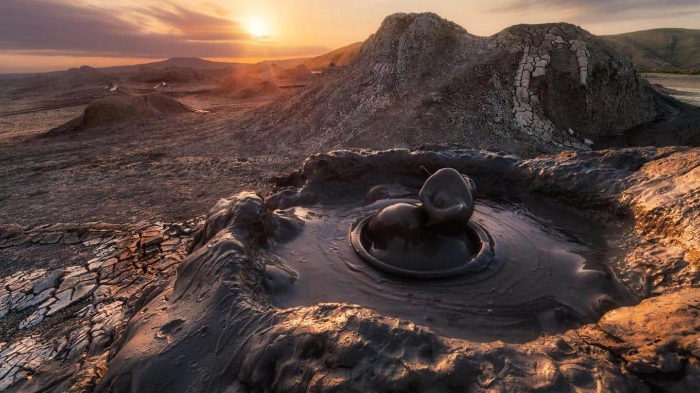 Treat your eyes to the rare sight of mud volcanoes
