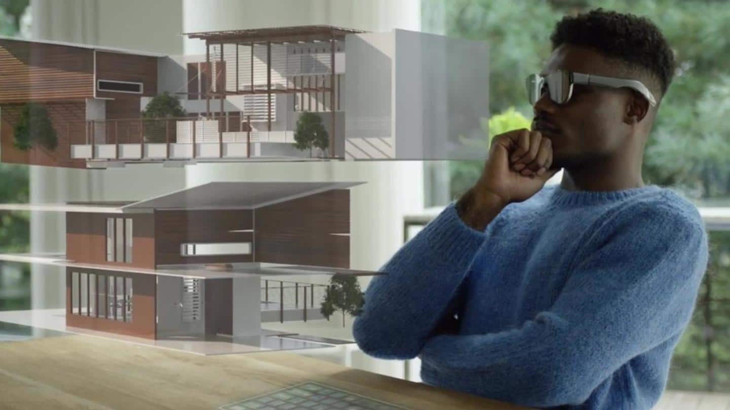 The eyewear is designed to immerse wearer in Augmented Reality