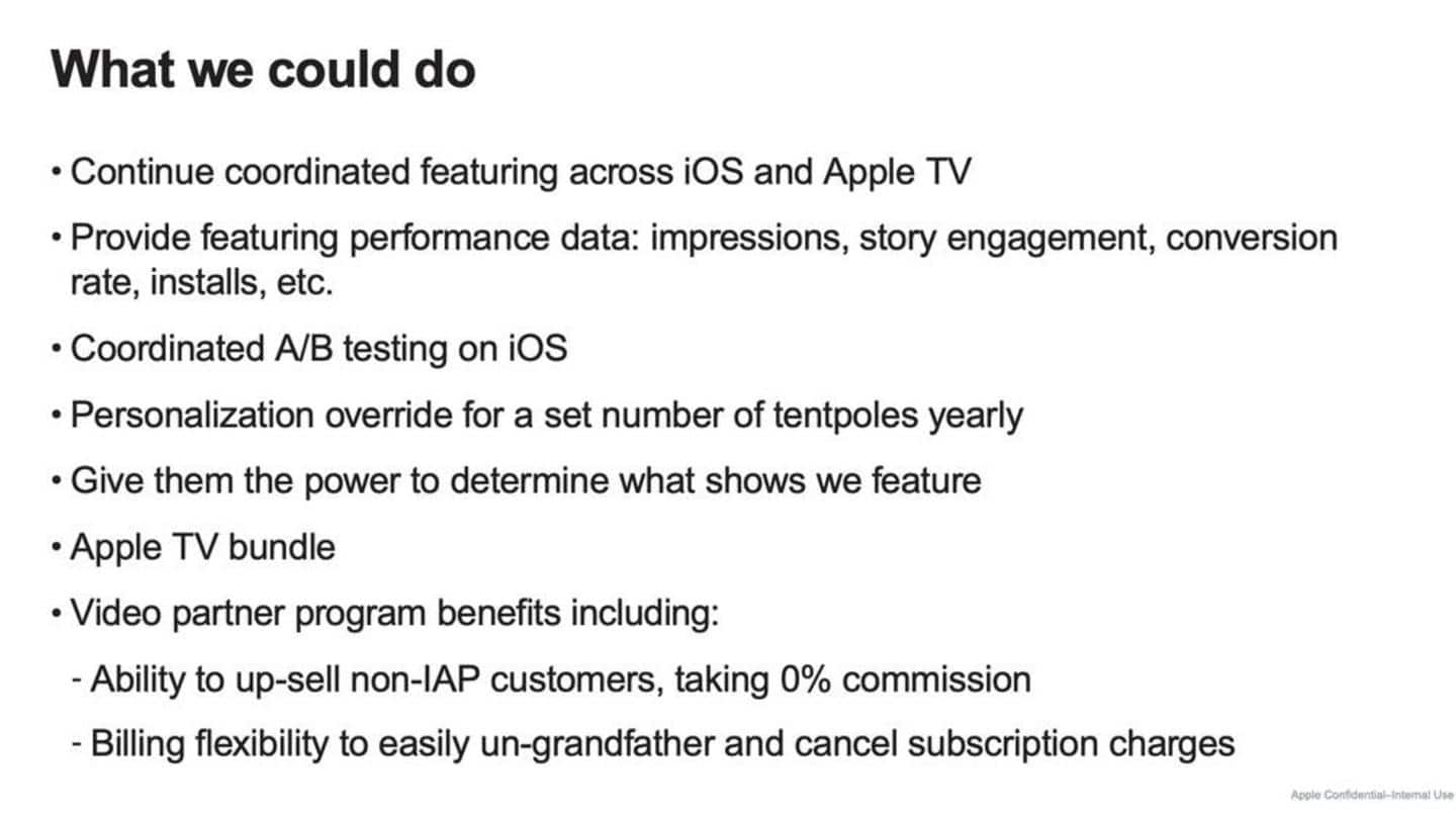 Apple's July presentation attempted to justify its exorbitant IAP fee