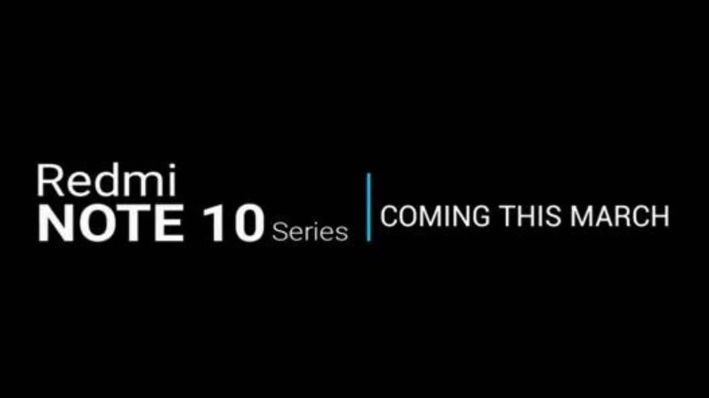 Redmi Note 10 series tipped to debut on March 10