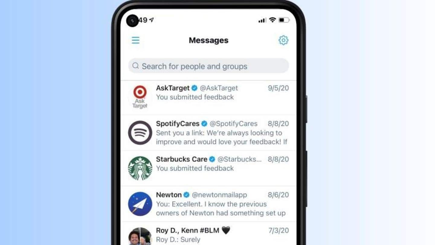 <b>Twitter</b> introduces DM search bar for Android after two years thumbnail