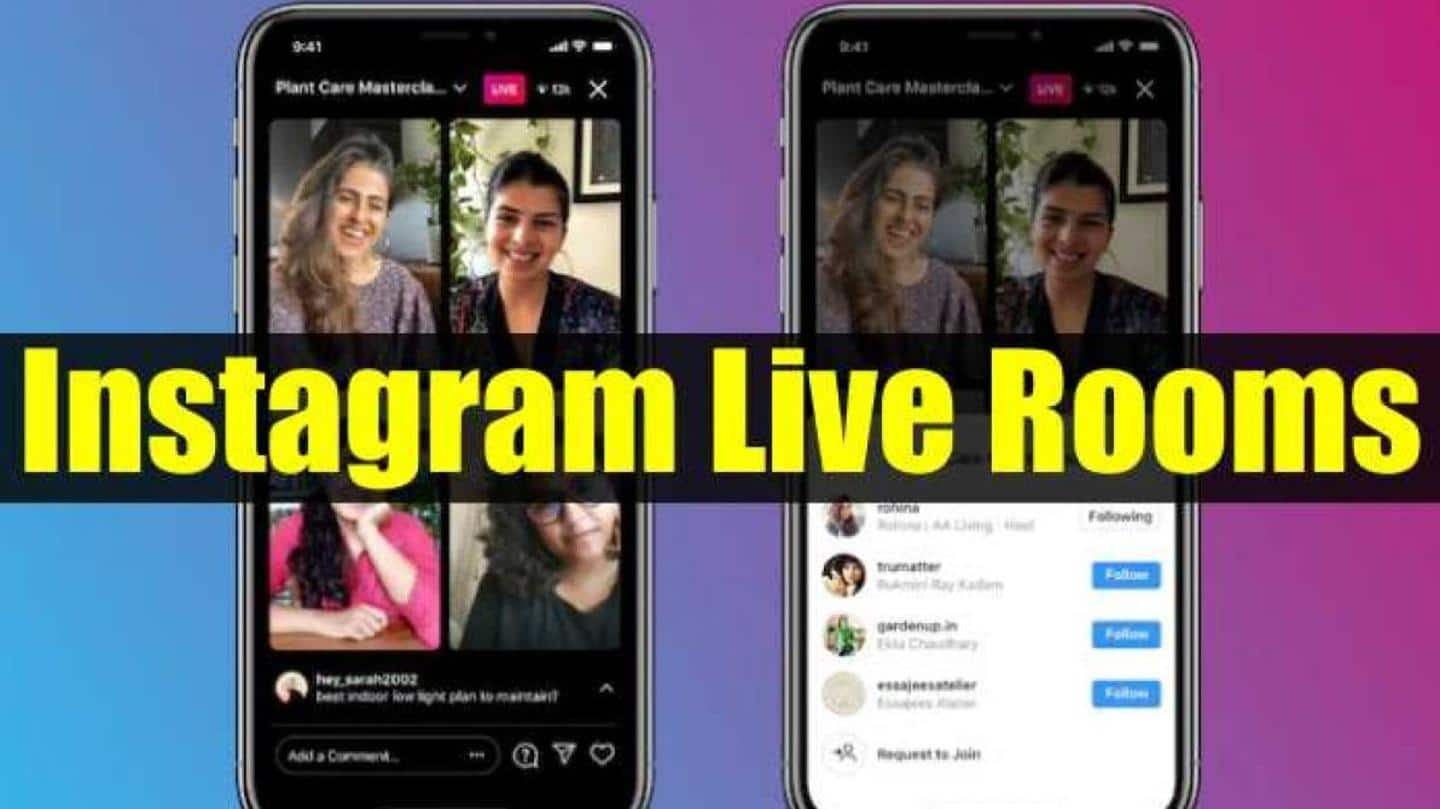 Instagram's Live Rooms feature will allow broadcasts with four people