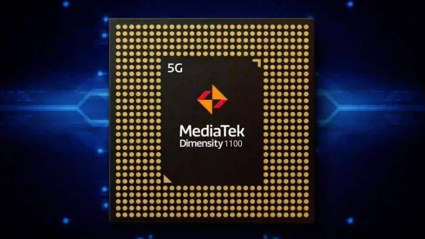 The handset will be powered by a Dimensity 1100 processor