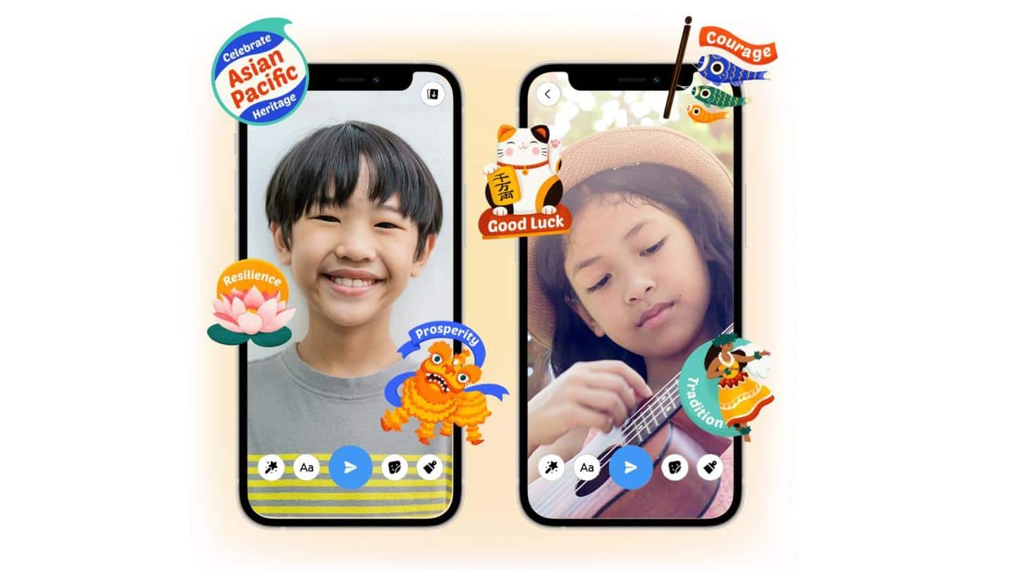 New Messenger stickers introduced to celebrate Asian and Pacific Islanders