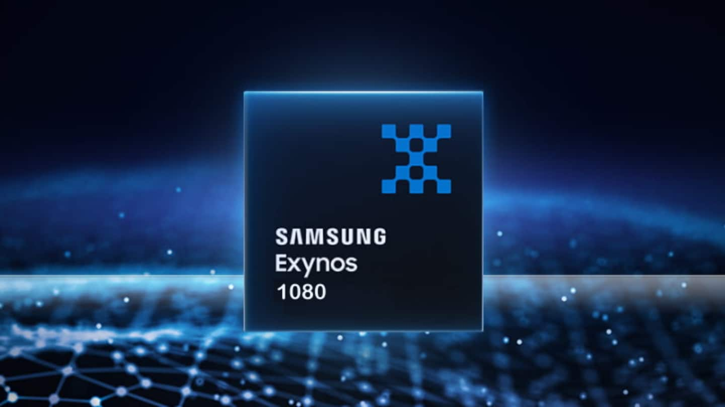 The handset is backed by an Exynos 1080 chipset