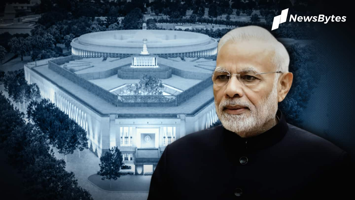 PM Modi laid foundation stone for new Parliament in December