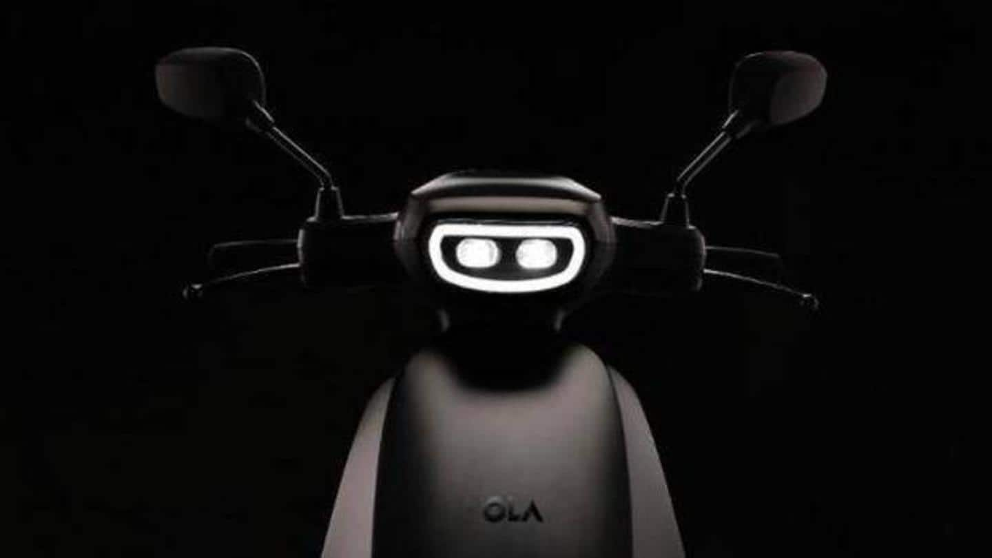 The e-scooter will have a 'smiley face' headlamp
