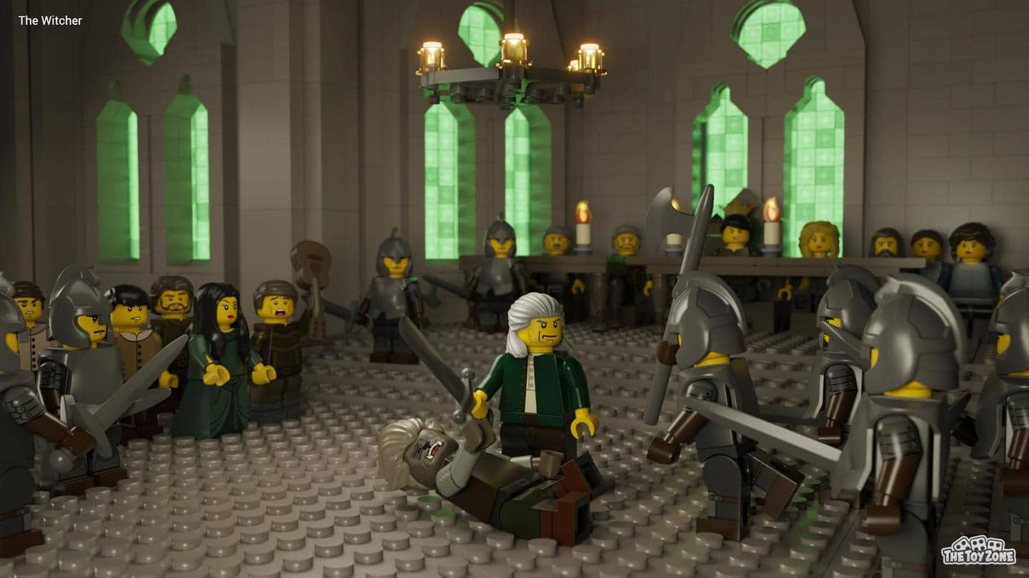 Hair from Batman Minifigure series helped complete 'The Witcher' recreation